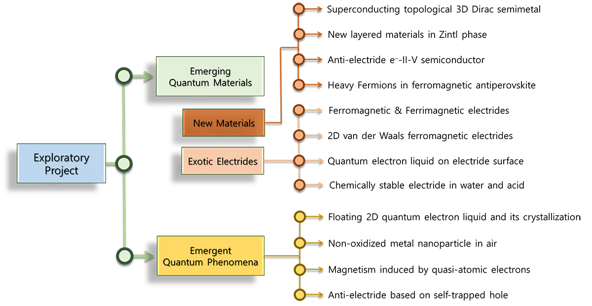"Figure 1. Research scope in exploratory project titled ""Emerging Quantum Materials"""
